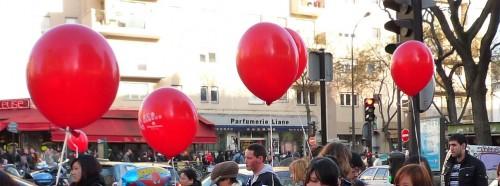 Les ballons rouges de Belleville